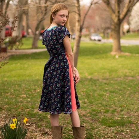 Nori Wrap Dress and Top PDF Sewing Pattern | Elliedactyl